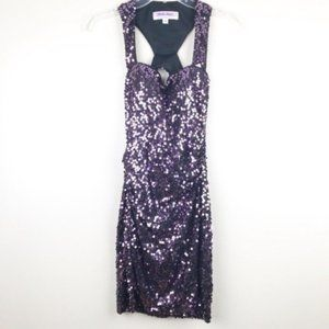 Adrianna Papell dress Sequined purple size small
